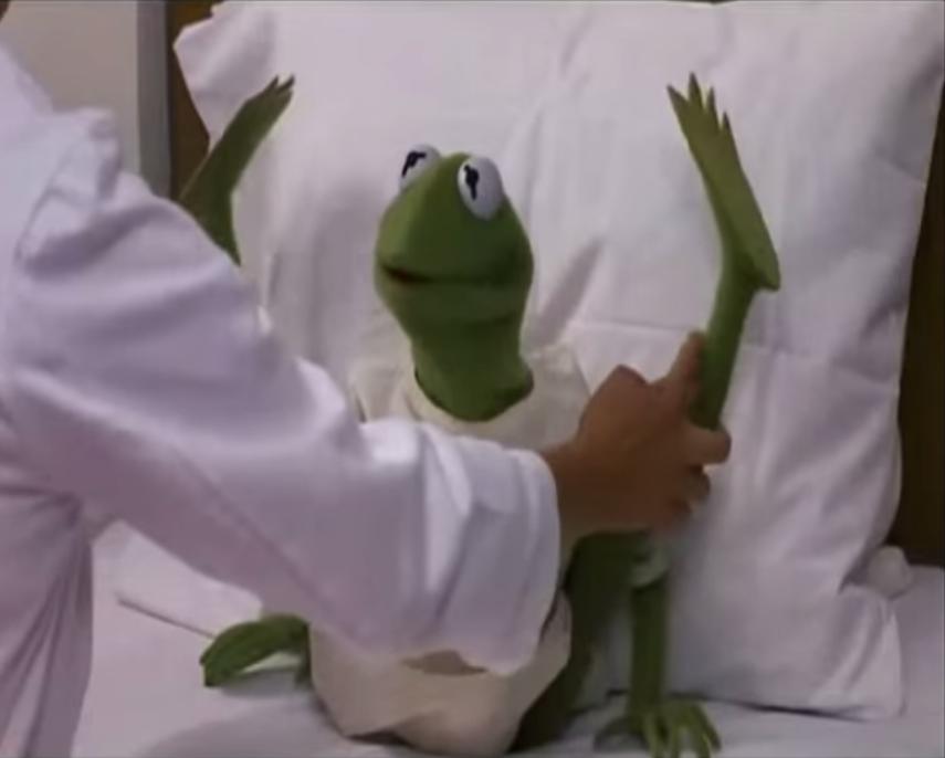 Kermit legs MTM hospital
