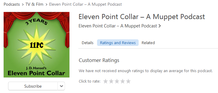iTunes ratings and reviews