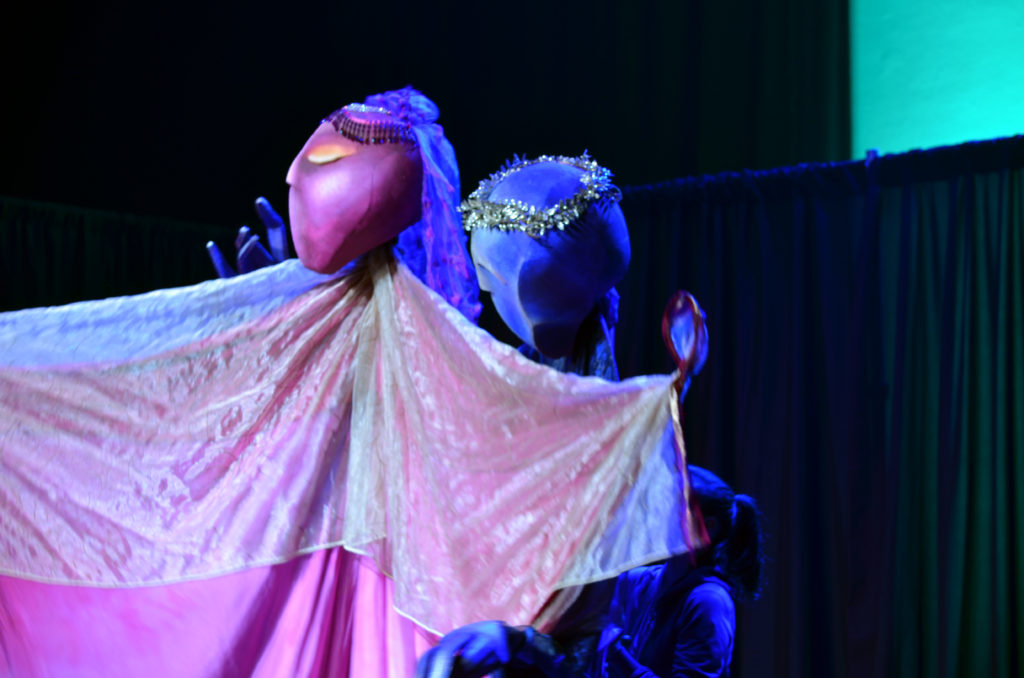 "Credit: Robin Walsh's ""Fire Bird"" performance at the ""Puppets for Puppetry"" fundraiser on Saturday, September 24, 2016 honoring puppeteer Dave Goelz. All photos courtesy of The Jim Henson Company. © 2016 The Jim Henson Company."