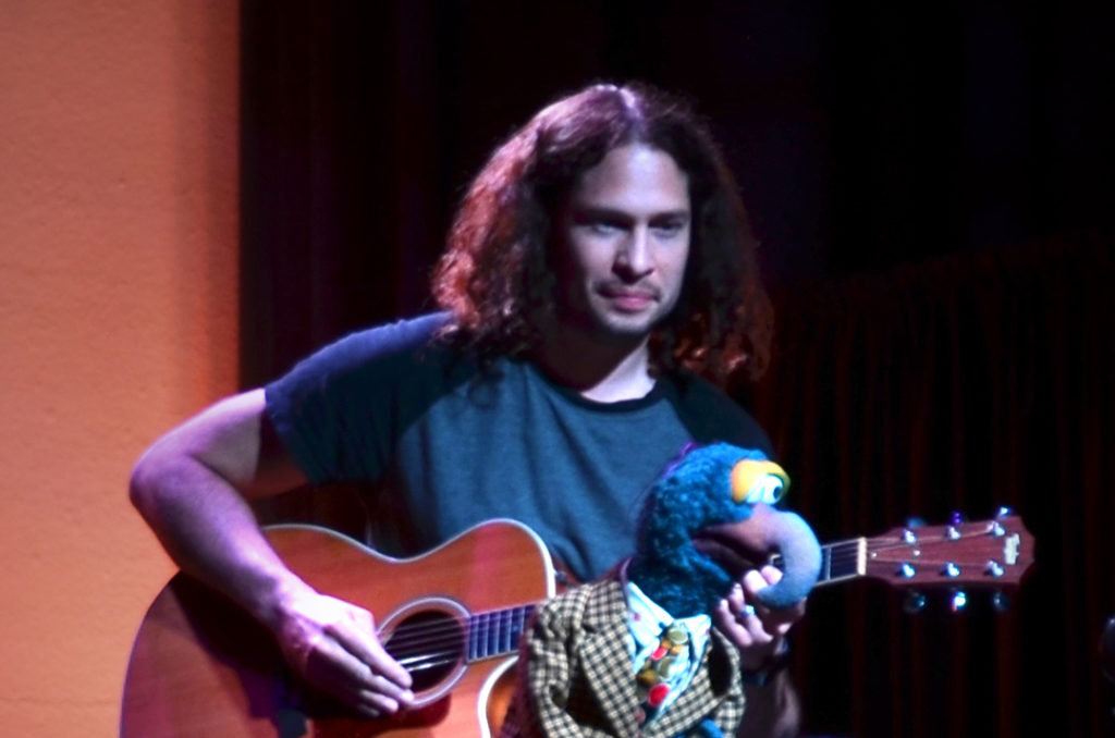 "Credit: Ray Toro (My Chemical Romance) and The Great Gonzo at the ""Puppets for Puppetry"" fundraiser on Saturday, September 24, 2016. All photos courtesy of The Jim Henson Company. © 2016 The Jim Henson Company."